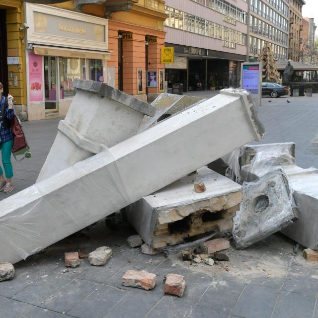 Posljedice potresa u Zagrebu.<br />