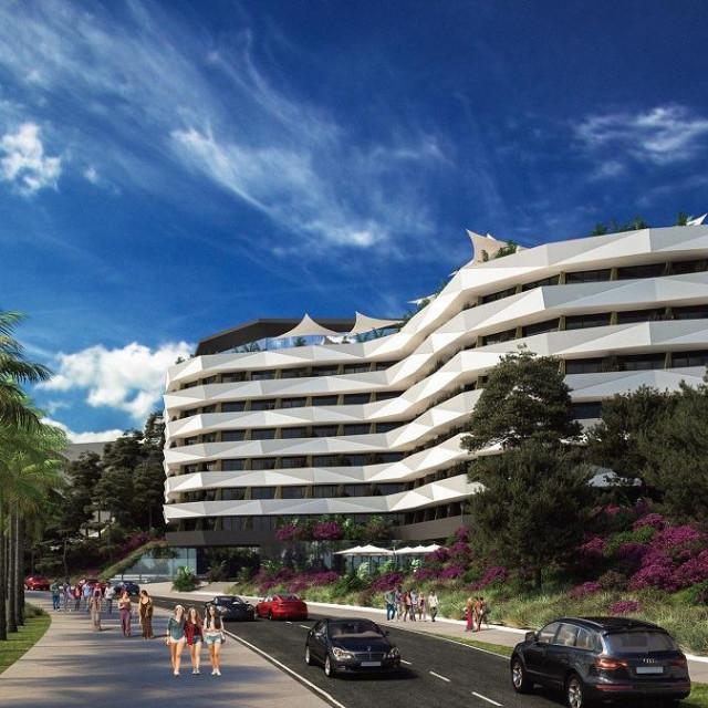 Simulacija budućeg hotela koji se namjerava graditi između Šetališta Ivana Pavla II. i Puta Žnjana