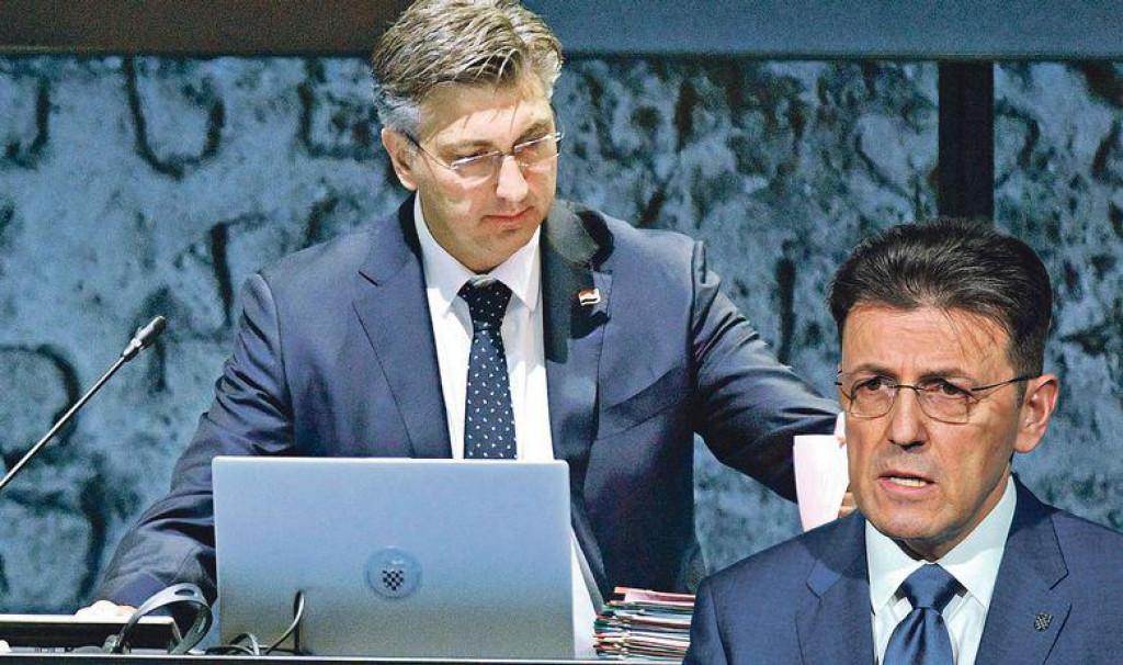 Andrej Plenković i Luka Burilović