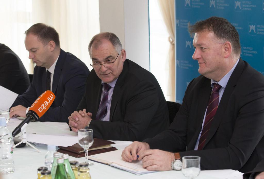 Župan Blaženko Boban i dožupan Ante Šošić zajedno su predstavili program, kao što to često rade, a jedan od ranijih zajedničkih nastupa zabilježio je i naš fotoreporter