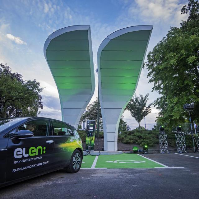 HEP-ova punionica električnih vozila ELEN koja se puni putem solarnih panela