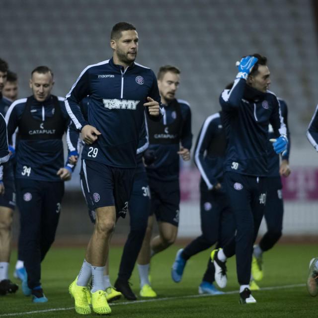 Ovakve scene, kao na treningu Hajduka u siječnju ove godine, zasad neće biti dopuštene