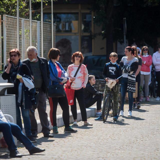 Zadar, 270420<br /> Danas je u sklopu popustanja mjera borbe protiv koronavirusa otvorena Gradska knjiznica u Zadru.<br />