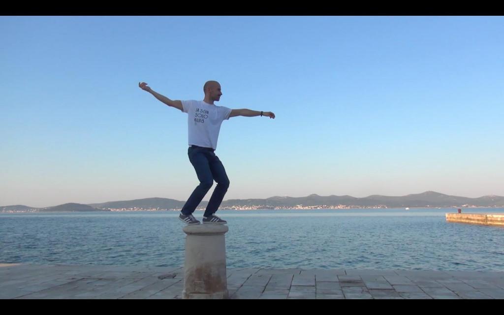 Prizor iz videa Zadarskoga plesnog ansambla povodom obilježavanja Svjetskog dana plesa