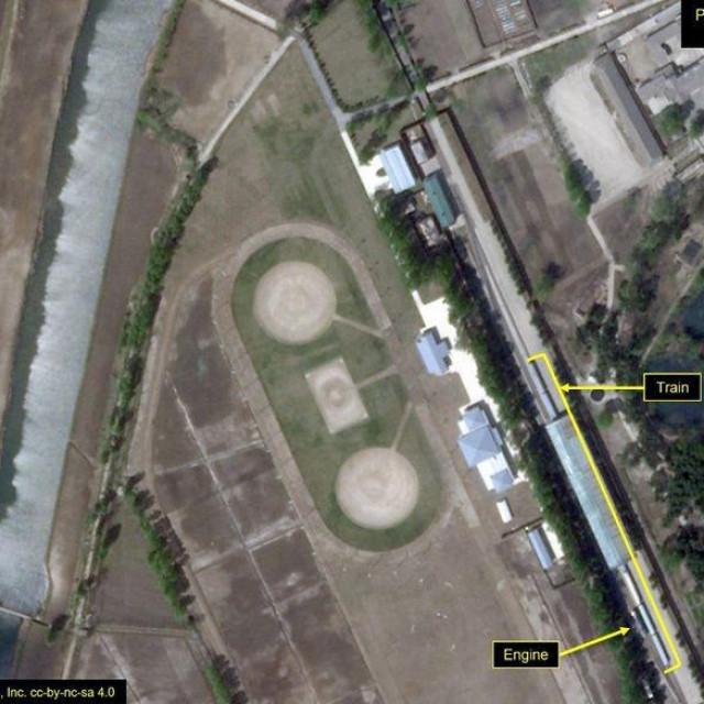 Satelitska snimka Wonsana iz 23. travnja pokazuje vlak Kim Jong-Una