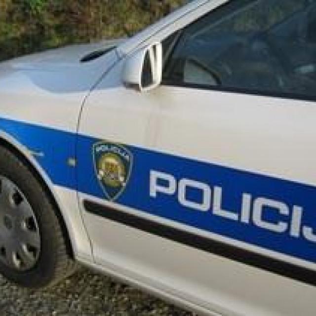 policijsko auto, ilustracija, policija, apel ostanite doma