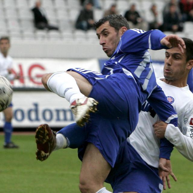 Ivica Karabogdan u dresu Croatije Sesvete u KUp utakmici protiv Hajduka u Splitu foto: Jakov Prkić/CROPIX
