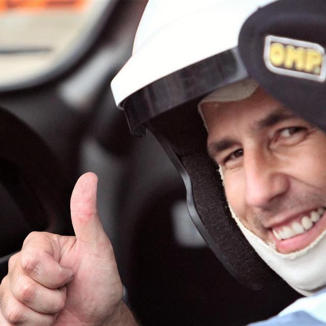 Marijo Barović (Auto klub Župa dubrovačka) - vozač koji je osvajao naslove prvaka Hrvatske u čak četiri discipline foto: Tonči Vlašić
