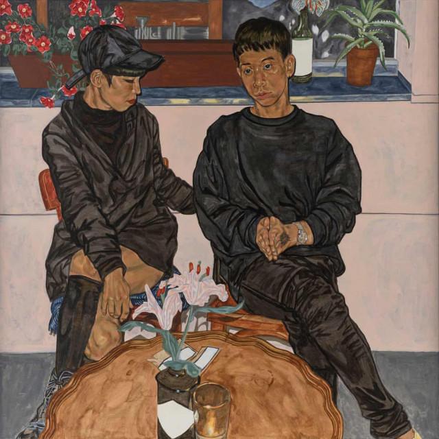Pobjednički portret autorice Jiab Prachakul prikazuje korejskog dizajnera Jeonga Choija i Makota Sakamota, japanskog skladatelja