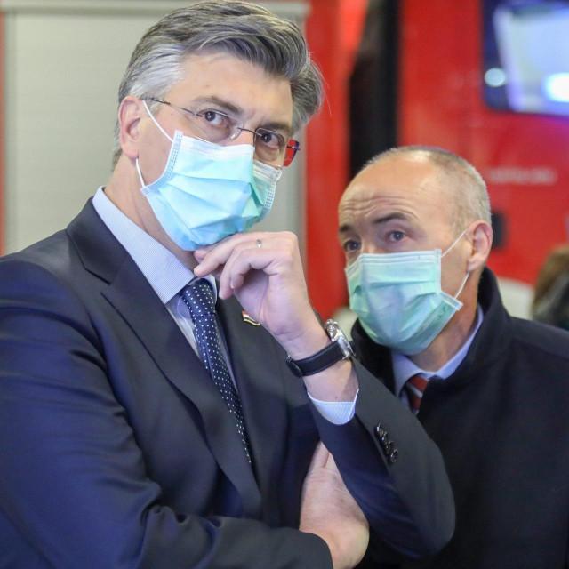Andrej Plenković i Damir Krstičević