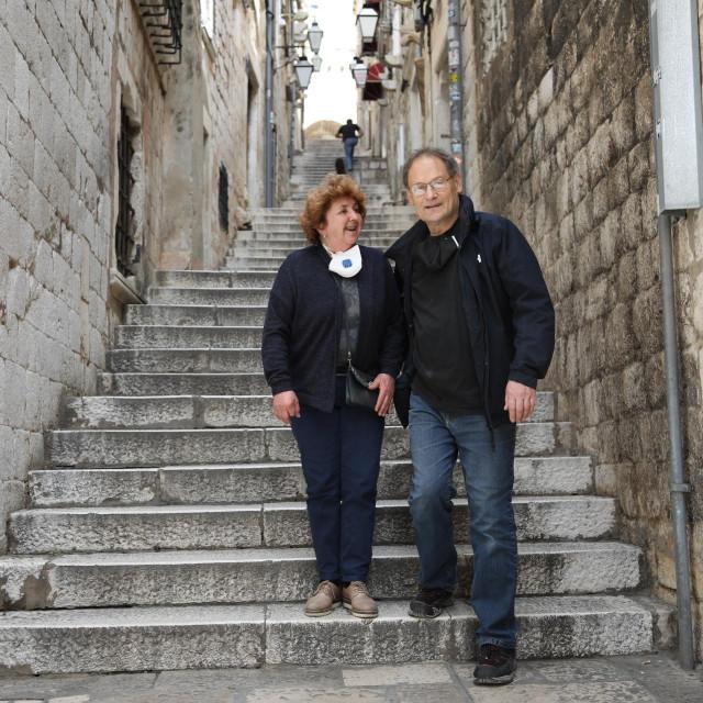 Marga Kocmur i Andrej Prelovšek, Slovenci u Dubrovniku
