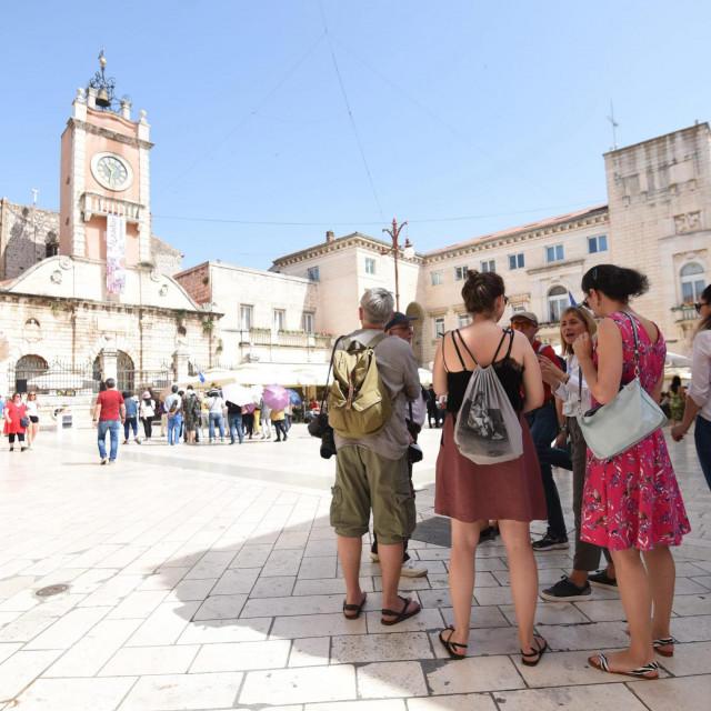 Zadar, 080619.<br /> Jutros su novinari iz Ceske u pratnji vodica obisli znamenitosti grada Zadra.<br />