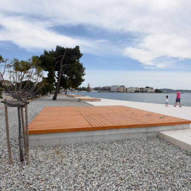 Zadar, 150520.<br /> Zavrseni su radovi na uredjenju plaze Jadran kod kafica Marex.<br />