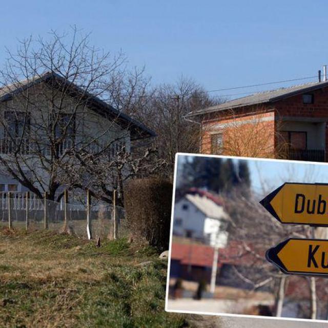 Obiteljska kuća u kojoj je pronađeno mrtvo novorođenče