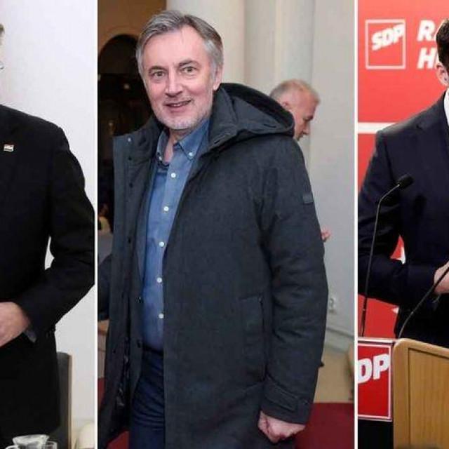 Andrej Plenković, Miroslav Škoro, Davor Bernardić