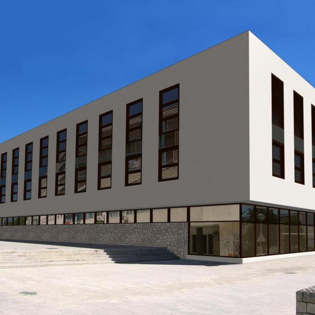 Objekt vizualno podsjeća na zgradu obližnjega Županijskog suda 3D SIMULACIJA