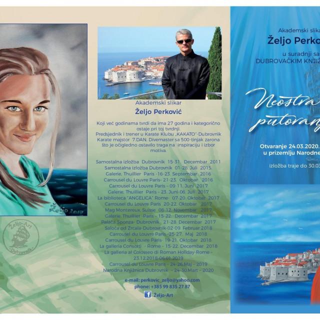 'Neostvarena putovanja' akademskog slikara Želja Perkovića
