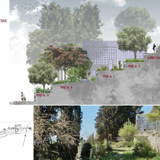 Budući izgled Botaničkog vrta na Marjanu