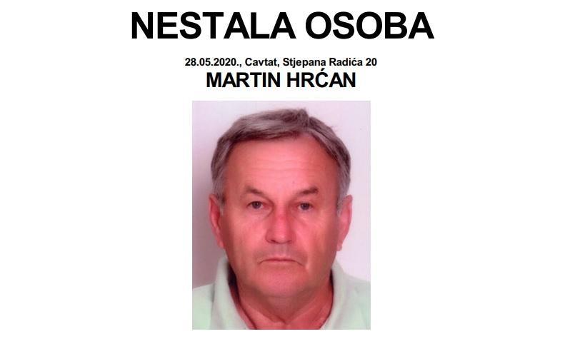 JESTE LI GA VIDJELI? Nestao Cavtaćanin Martin Hrćan (67), u potragu se uključio i HGSS