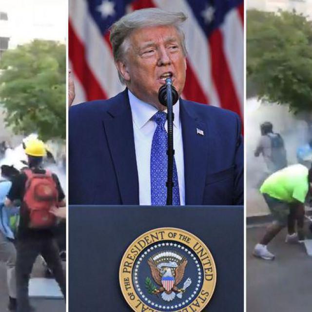 Trumo je zaprijetio je slanjem vojske na ulice američkih gradova ne uspiju li guverneri pojedinih saveznih država suzbiti demonstracije.