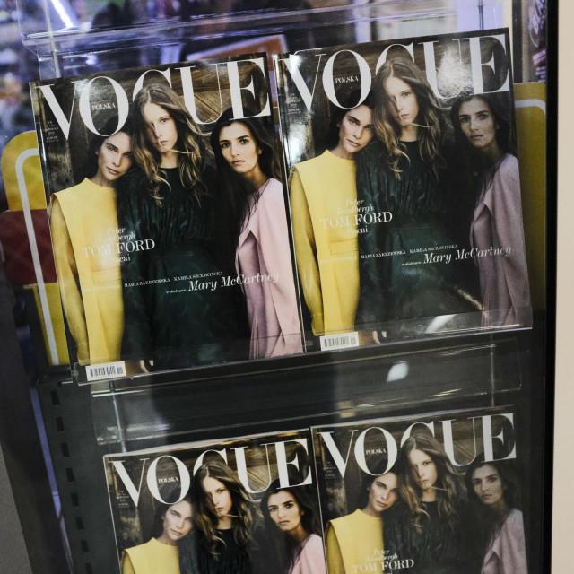 Prepoznatljive naslovnice Voguea, poput ove s fotografijom Marija Testina, trenutno su u drugom planu