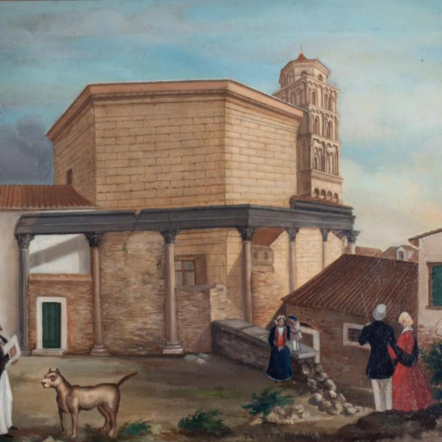 Frane Bratanić: Pogled na splitsku katedralu. 1848. foto Muzej grada Splita