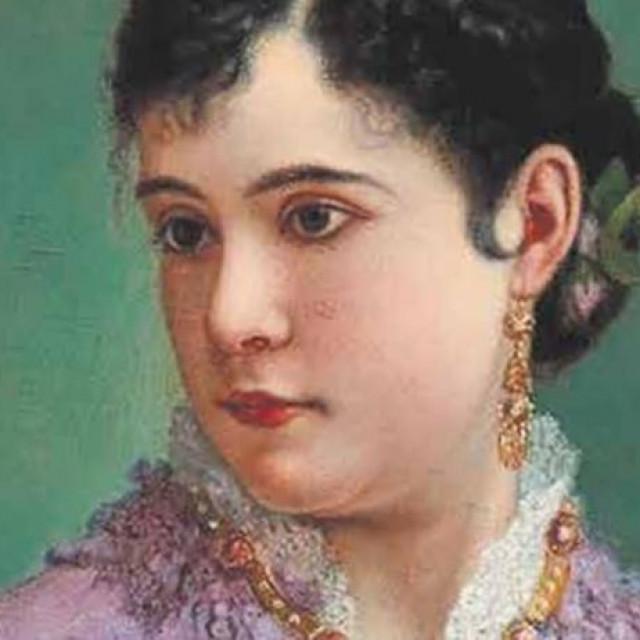 Vlaho Bukovac, slika portreta bogate Julije