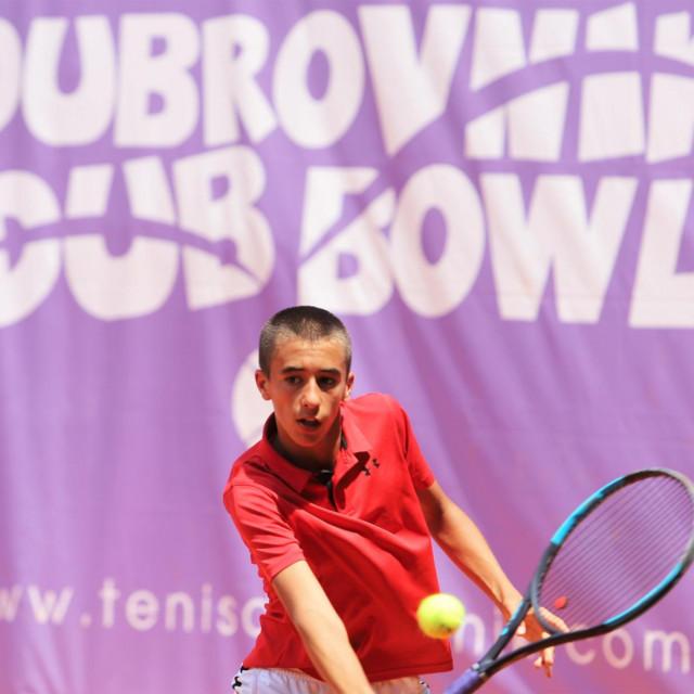Stjepan Bogdan, tenisač Raguse foto: Tonči Vlašić