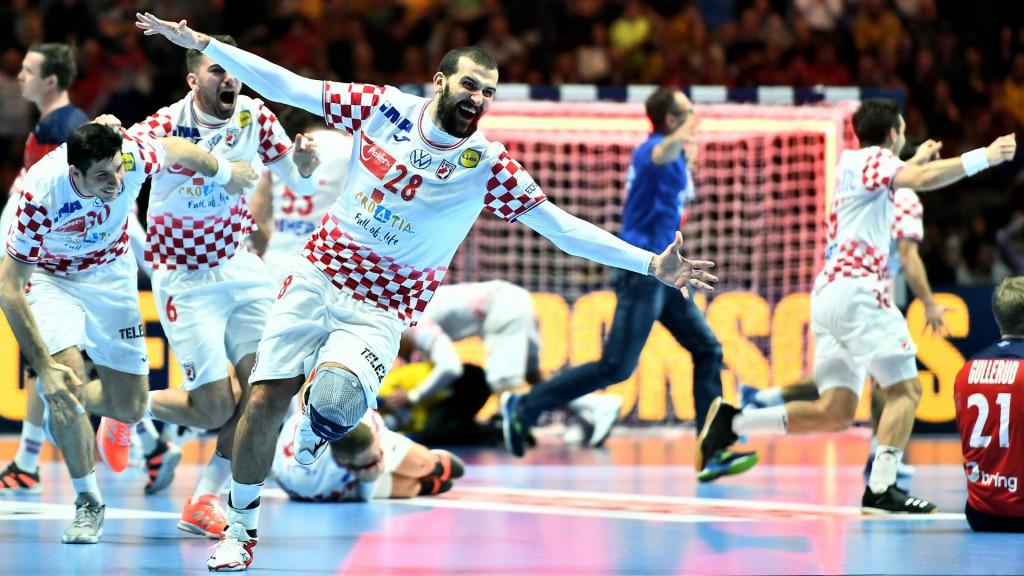 Željko Musa slavi pogodak za pobjedu protiv Norveške u polufinalu EP-a 2020. godine foto: Ante Čizmić / CROPIX