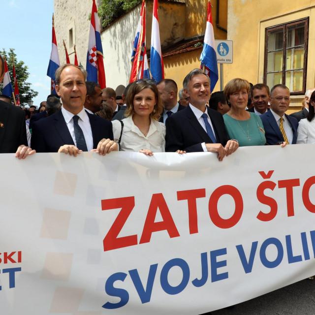 Domovinski pokret predao je svoje liste za parlamentarne izbore -: Miroslav Skoro, Hrvoje Zekanovic, Ruza Tomasic, Zlatko Hasanbegovic...<br />