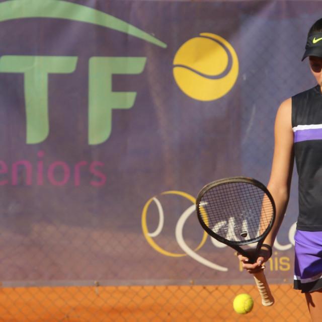 Lucija Ćirić Bagarić na juniorskom ITF turniru Dubrovnik Cup 2019. foto: Tonči Vlašić