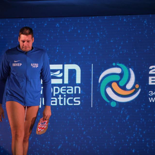 Andro Bušlje - kapetan hrvatske na Europskom prvenstvu u Budimpešti 2020. godine foto: Tonči Vlašić
