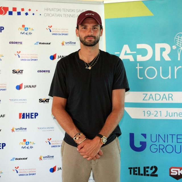 Zadar, 16.06. 2020.- Grigor Dimitrov stigao je u Zadar na Adria Tour koji će se igrati u ŠRC Višnjik od 19. - 21. 6..<br />