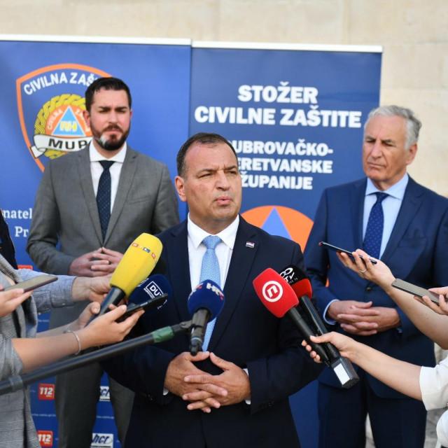 Na sastanku Stožera Civilne zaštite Dubrovačko-neretvanske županije sudjelovao je i ministar zdravstva Vili Beroš