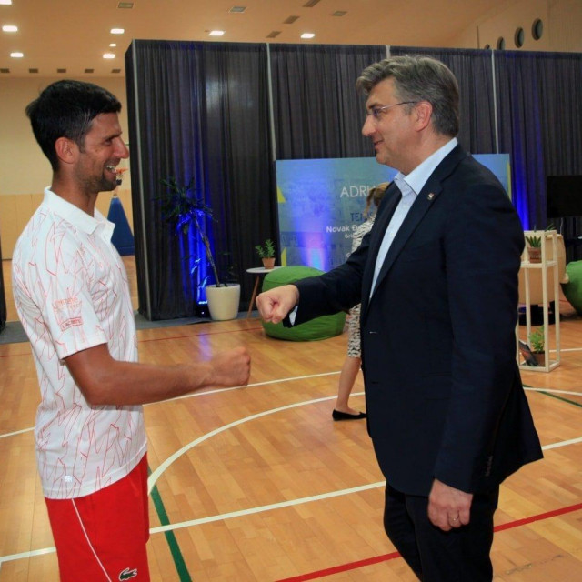 Novak Đoković i Andrej Plenković