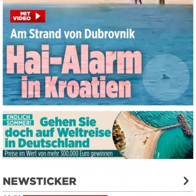 Njemački mediji prenose vijesti o morskom psu na Copacabani