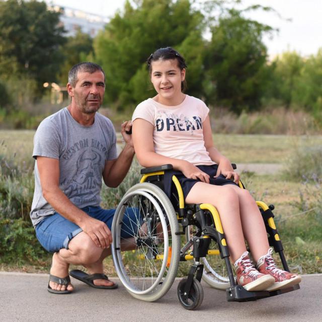 Laura Čulina s ocem Denisom