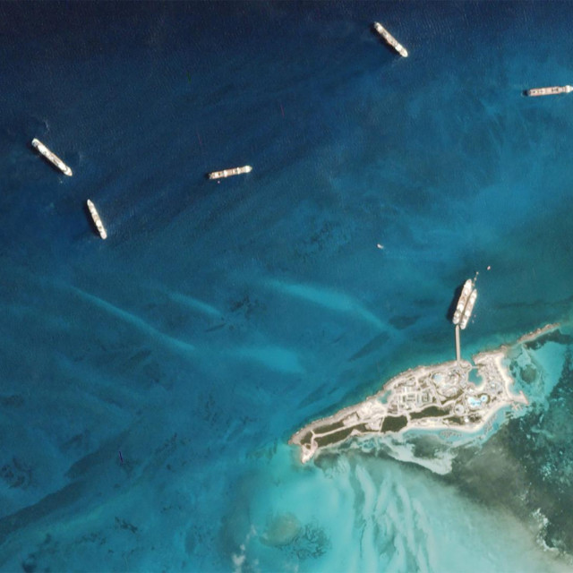 "In this May 8, 2020, satellite image obtained from Planet Labs, Inc., shows, cruise ships, mainly Celebrity and Royal Caribbean cruise liners, anchored at Coco Bay in the Bahamas, according to The Drive, an automotive online magazine. - The cruise industry has taken a beating during the coronavirus crisis -- on-board outbreaks, refusal of port access and now no clear idea of when ships can sail once again. While the passengers have headed home, the journey drags on for tens of thousands of crew members who are stranded at sea aboard their vessels, with no end in sight. (Photo by -/Planet Labs Inc/AFP)/RESTRICTED TO EDITORIAL USE - MANDATORY CREDIT ""AFP PHOTO/Planets Labs"" - NO MARKETING - NO ADVERTISING CAMPAIGNS - DISTRIBUTED AS A SERVICE TO CLIENTS"