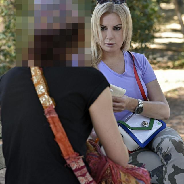 Javna djelatnica (lijevo) s novinarkom Lenkom Gospodnetić