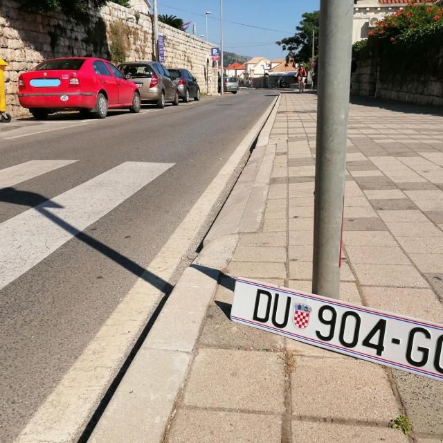 izgubljena registracijska pločica u Zgarebačkoj ulici