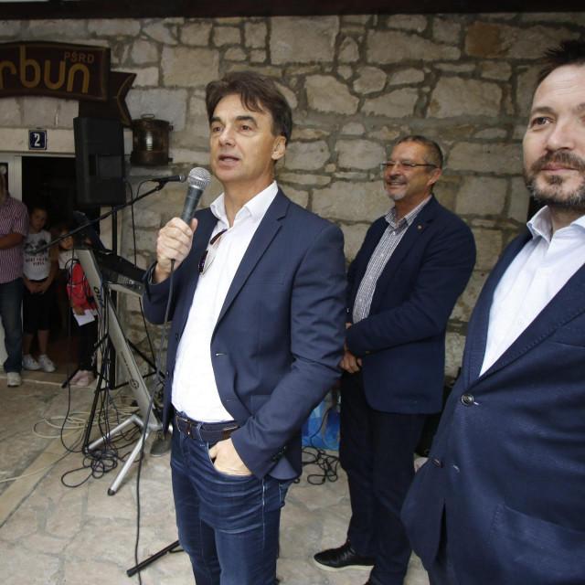 Arsen Bauk s Brankom Grčićem u Makarskoj<br />