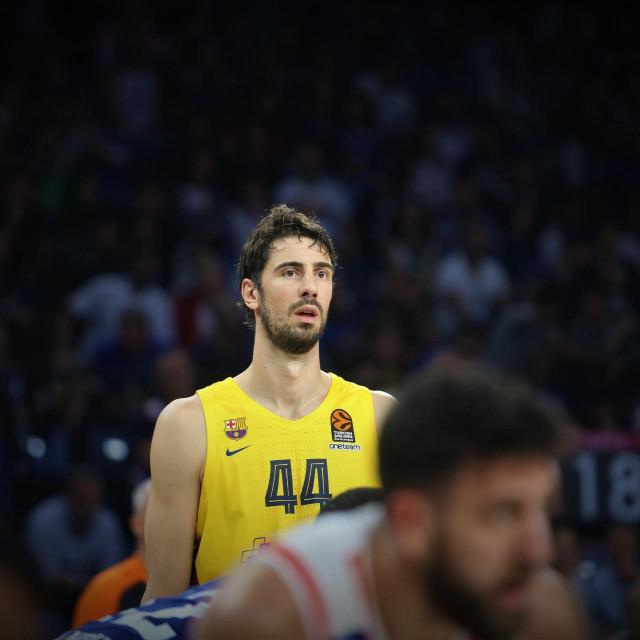 Ante Tomić, kapetan Barcelone, protiv Anadolu Efesa u Istanbulu u sezoni 2019./20. foto: Tonči Vlašić