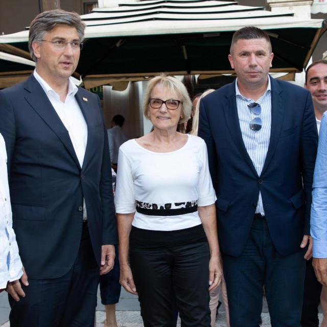 Nevenka Tuđman i Andrej Plenković