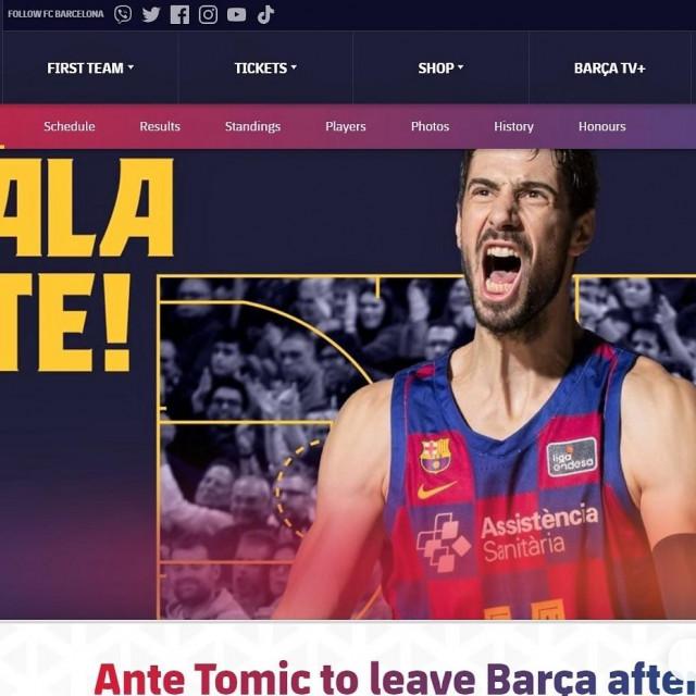 Barcelona je na službenoj stranici kluba zahvalila Dubrovčaninu na osam godina vjernosti!