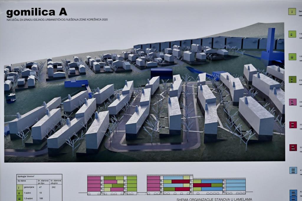 Prvonagrađeni rad arhitekta Njirića predviđa oko 1140 stanova za 5000 stanovnika