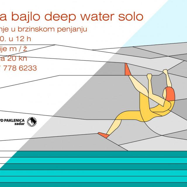 Deep water solo (DWS) natjecanje u brzinskom penjanju.