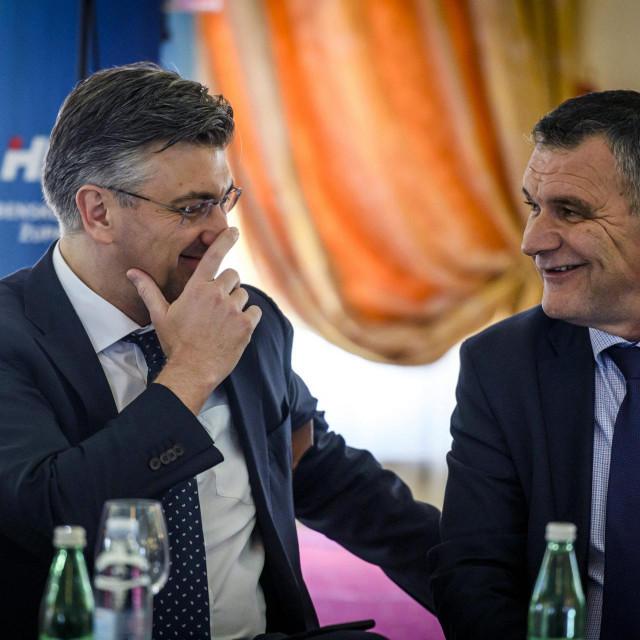 Na fotografiji: Andrej Plenkovic, Nediljko Dujic.<br />