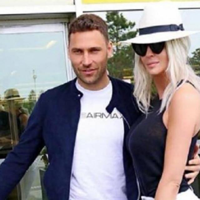 Duško Tošić sa suprugom Jelenom Karleušom, poznatom srpskom pjevačicom