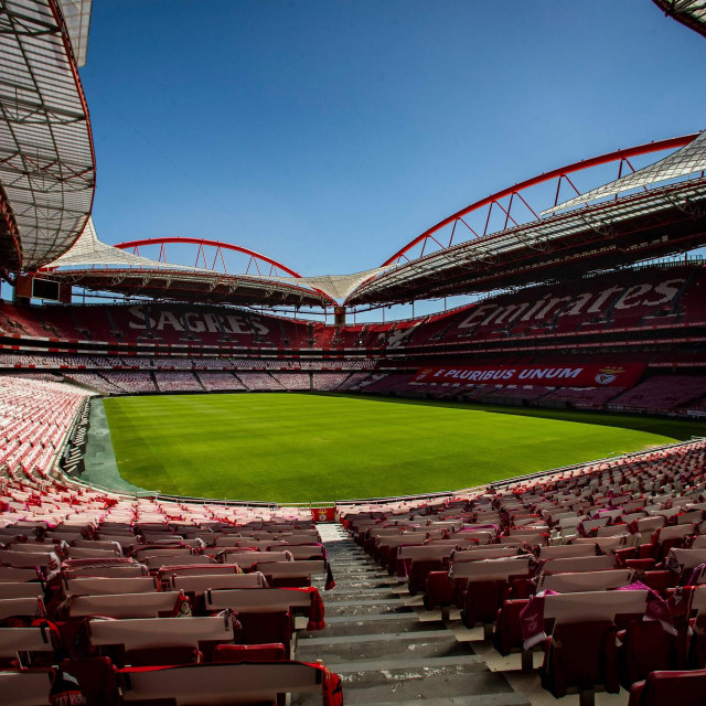 Prazni Luz stadion u Lisabonu na kojem će se igrati četvrtfinale, polufinale i finale UEFA Lige prvaka od 12. do 23. kolovoza