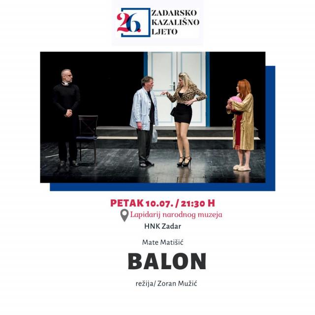 Predstava 'Balon' Mate Matišića u HNK Zadar